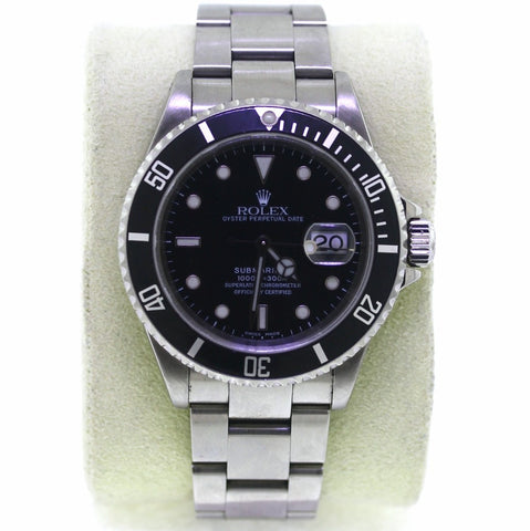 Estate Rolex Sub Blk/Blk Serl Y143920 No Box and Papers Stainless Steel WA0561