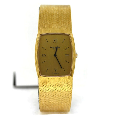Estate Patek Philippe Mesh *bracelet 2750656 Ref. 125357 Mvt. M78804 NO Box and Papers, 18K Yellow Gold Watch, WA0602