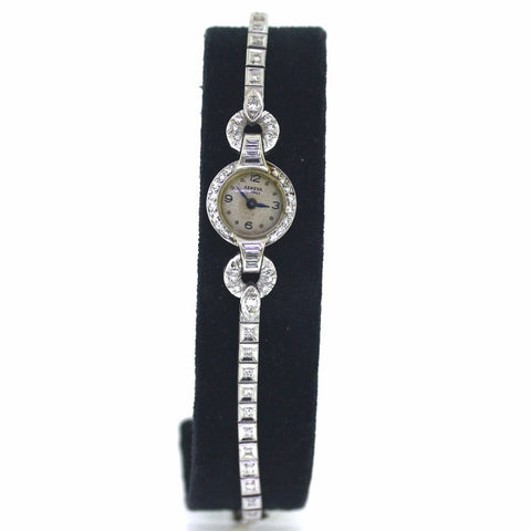 Estate Vintage Geneve Diamond watch, 14K White Gold WA0618