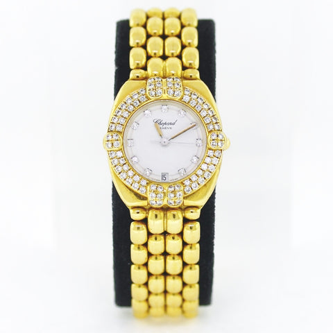 Estate Chopard Gstaad DD DB Style 5229 Srl. GD19425 3245120-11 .7gr NO Box or Papers 18K Yellow Gold Watch WA0734