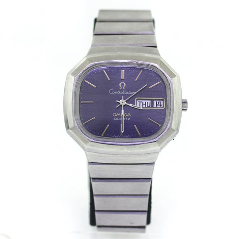 Estate Omega Constellation Qtz. Day-Date Gray dial No BAP Stainless Steel Watch WA0763