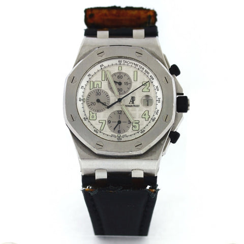 Estate Audemars Piguet Roayl Oak Off Shore Auto No. 5932 F28683 NO BAP Stainless Steel Watch WA0774