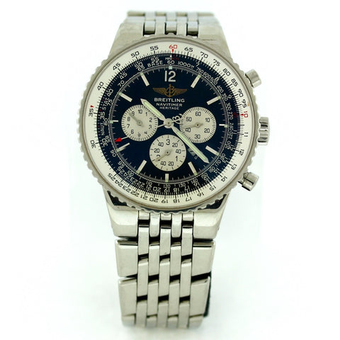 Estate Breitling Navitimer Black/Sil Sub Dials A3534002/b554 Srl. 233070 BAP Stainless Steel Watch WA0796