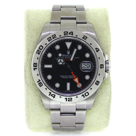 Estate Rolex Explorer II Style 77210 Srl. 066331M9 Box Only No Warranty Card 1 Extra Link Stainless Steel Watch WA0801