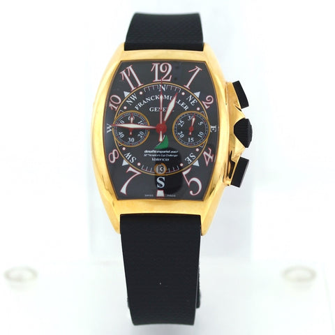 Estate Frank Muller Desafino Espanol No. 54 32nd America's Cup Challenger, Valencia Papers only 18K Rose Gold Watch WA0805
