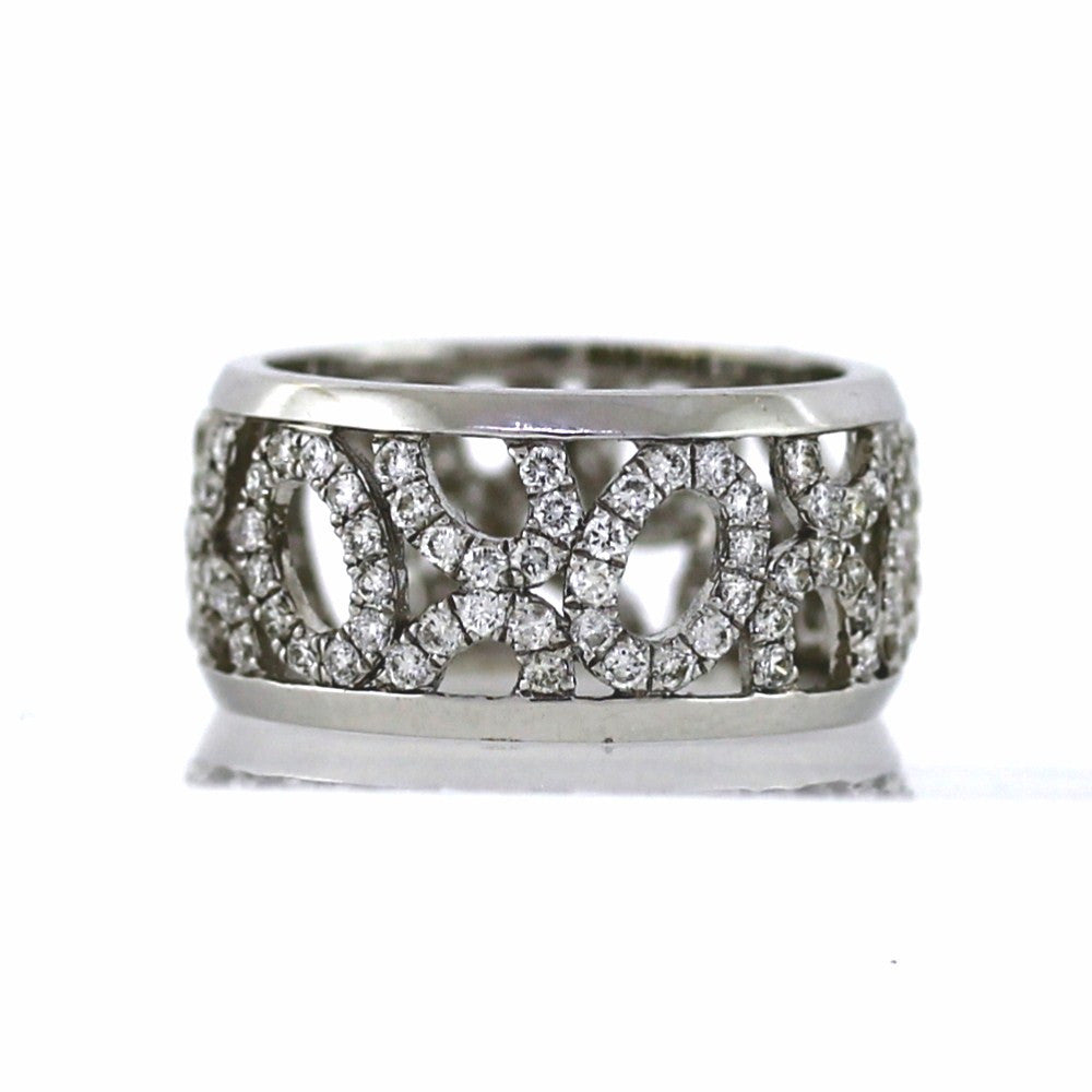 130 Round Brilliant = 1.41ctw 3.07gr Size 6.5 L1207765 18K White Gold Eternity Band BND1594