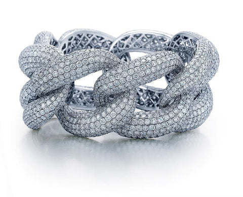 2776 Round Brilliant Diamonds = 68.09ctw 74.67gr Wide Link 8