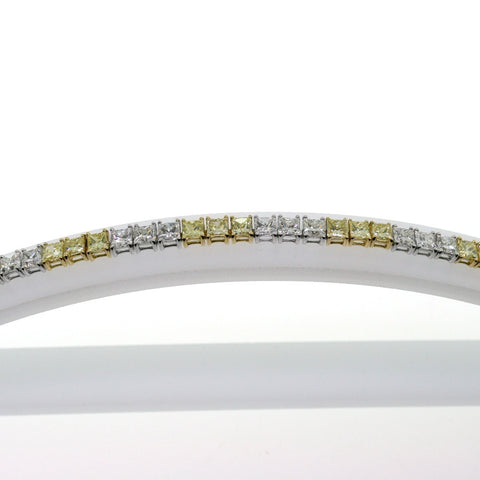 24 Princess Cut Diamonds = 7.01 D VS1 24 = 6.19 Fancy Yellow Diamonds Light VS1 intense yellows Two Tone 18K Gold Bracelet BR1804