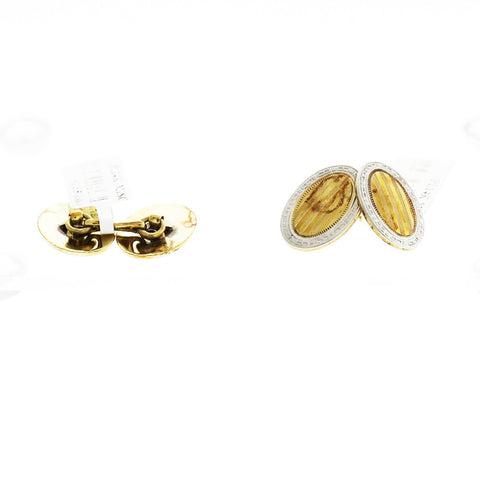 Estate Wordley, Allsopp and Bliss Platinum & 14K Gold Cufflinks 13gr MSC0065
