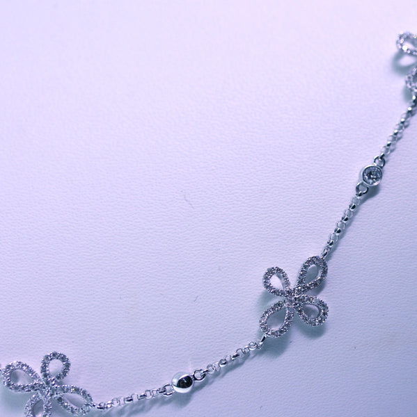 532 Round Brilliant = 1.97ctw 9.57gr 18K White Gold Necklace NK1459