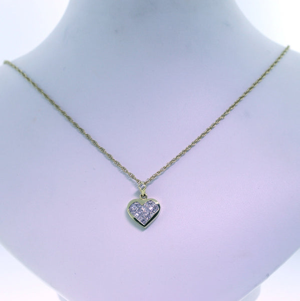 "Estate 21 Princess Cut = 1.10ctw 17"" 14K Chain 6.8gr 18K Yellow Gold Necklace NK1627"
