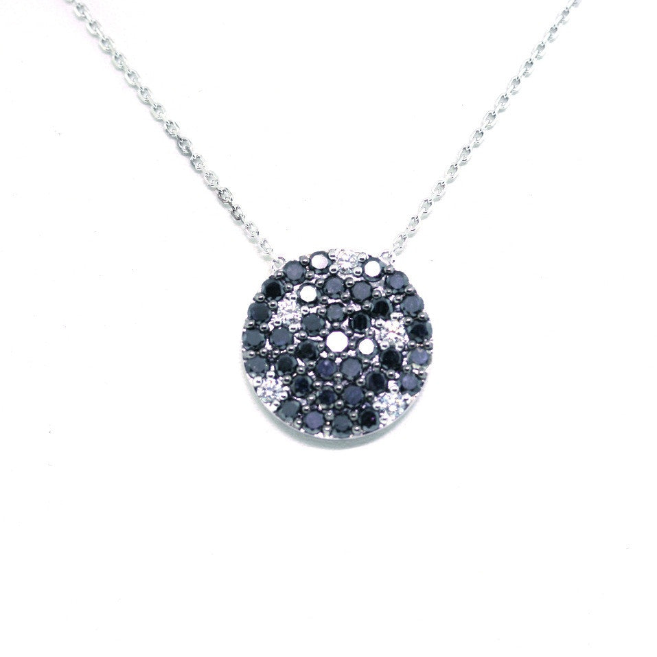 35 Black = 1.64 5 Round Brilliant = .22 6.71gr 18K White Gold Necklace NK1707