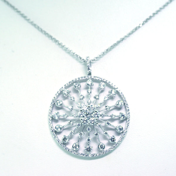 15 Round Brilliant = .74116 Round Brilliant = .81 3.13gr 18K White Gold Necklace PND1464