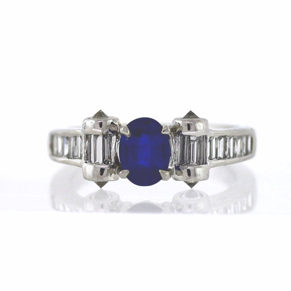 22 = .92ctw 1 Oval Kyanite = 1.02 Platinum Lady's Ring SMNT1788