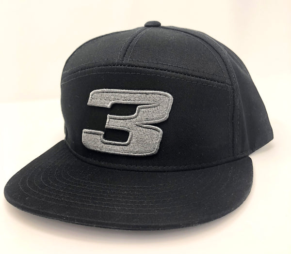 Black / Gunmetal 3 Hat