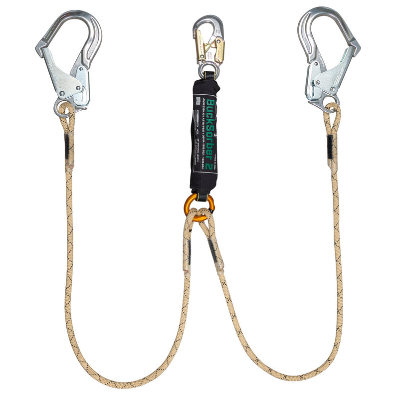 Dual Tough Rope™ Energy Absorbing Lanyard with BuckSorber2™ - 400000X12Q1
