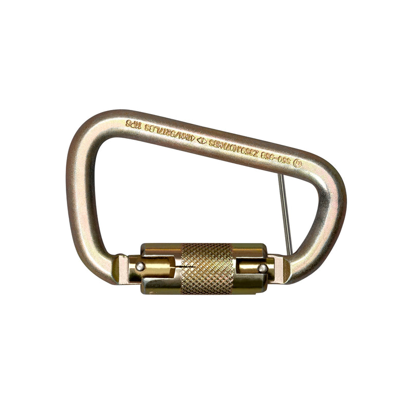 Steel Twist Lock Carabiner with Captive Pin Holes - 5005T