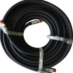 "50' Black Wire Reinforced Hydraulic Hose W/ Swivels 1/2"" X 1/2"" Pipe Thread (98-5009STWIN)"