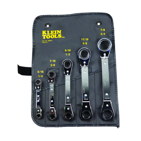 Klein 5 Piece Ratcheting Wrench Set(94-68221)