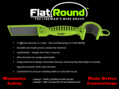 MADI  FlatRound The Lineman's Wire Brush (95-FRWB1)