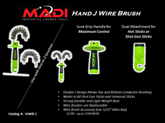 MADI Hand J Wire Brush (95-HJWB1)