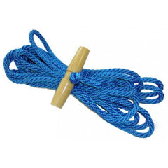 "Jameson 5/16"" x 20' Polyester Rope with Wooden Handle (81-PR-20)"