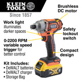 Battery-Operated Compact Impact Driver, 1/4-Inch Hex Drive, Full Kit - (94-BAT20CD1)