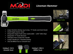 MADI SMooth Face Lineman Hammer (95-SLH1)