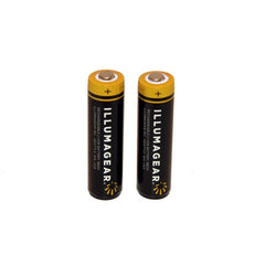 18650 Lithium Ion Rechargeable Batteries, 2-pack - (HARB-01A-X2)