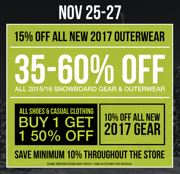 ONE Boardshop Black Weekend Sale