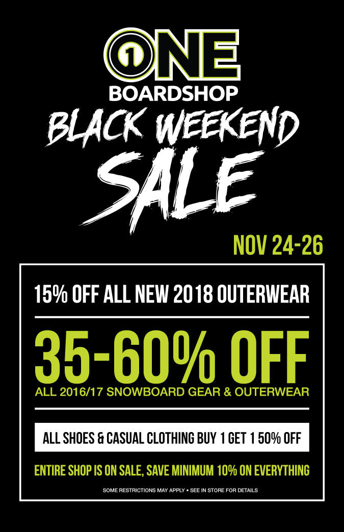 ONE Boardshop Black Weekend Sale 2017