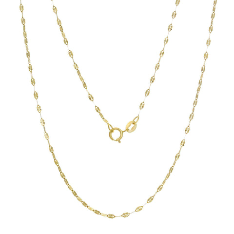 Italian gold chain 14K Sun Link (16-20 inches ) - 18 Inch
