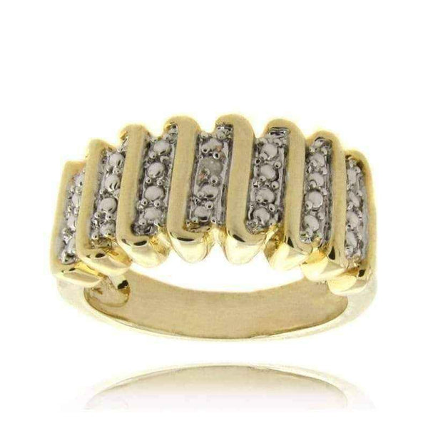 Gold Overlay Diamond Accent Ring