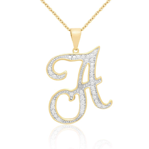 Initial necklace | 14k Gold Overlay