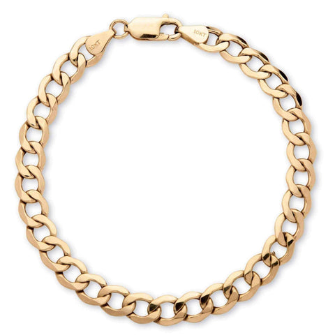Mens gold curb bracelet