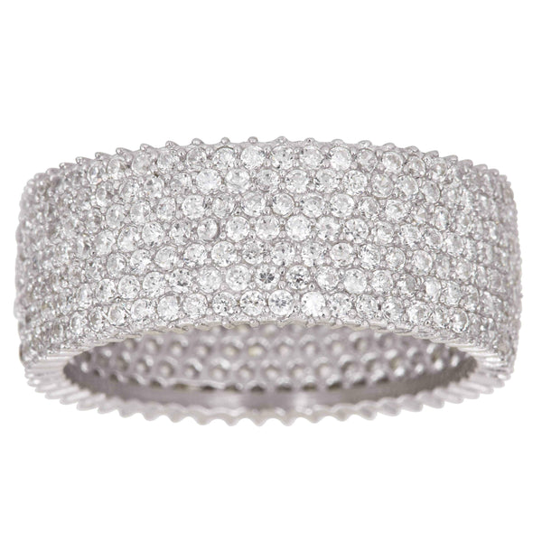 Micro Pave Eternity Ring
