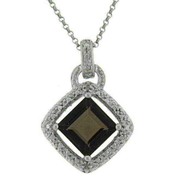 Necklaces for women  |  Diamond Accent Square Necklace