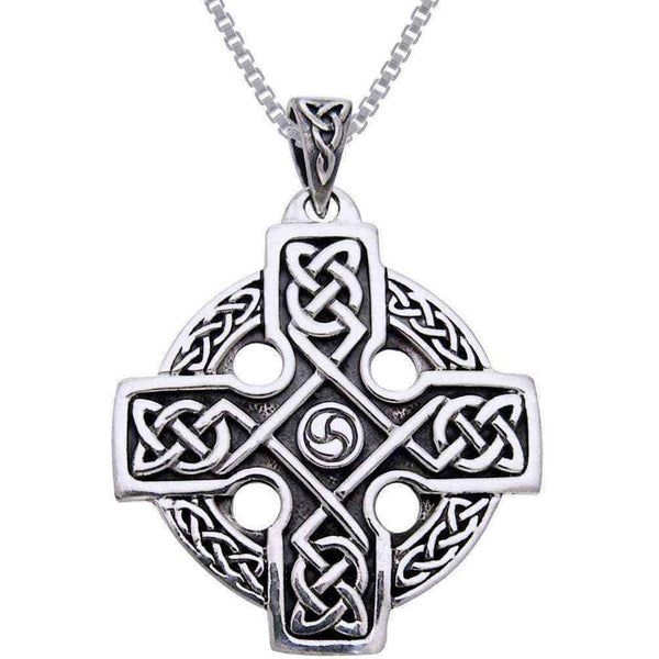 Solar cross necklace