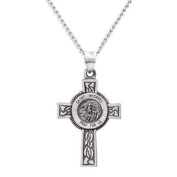 St Michael cross necklace