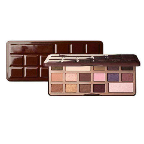 Eye Shadow Palette with Mirror Chocolate Bar 16-Color Smoked