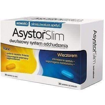 ASYSTOR SLIM 60 TABS - SLIMMING, WEIGHT LOSS, FAT BINDER - asystor slim cellu