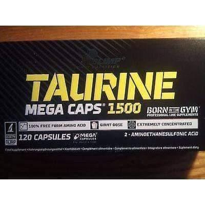 Olimp Taurine 1500mg N120 MEGA capsules taurine supplement, taurine benefits UK