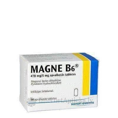 MAGNE B6 - MAGNESIUM 470mg + B6 5mg - 10 tablets FRANCE - without box -EFFECTIVE