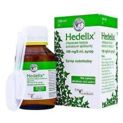 HEDELIX 100mg/5ml, 100ml Cough Syrup Bronchial Spasms, bronchospasm treatment, nighttime cough 4+