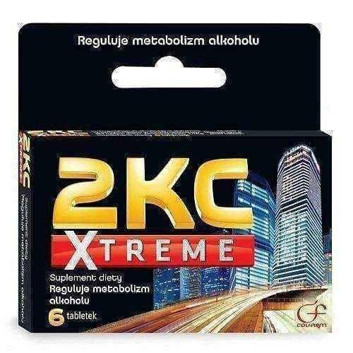 2KC Xtreme x 6 tablets after excessive consumption of alcohol Anti Hangover - ELIVERA UK, Reviews, Buy Online