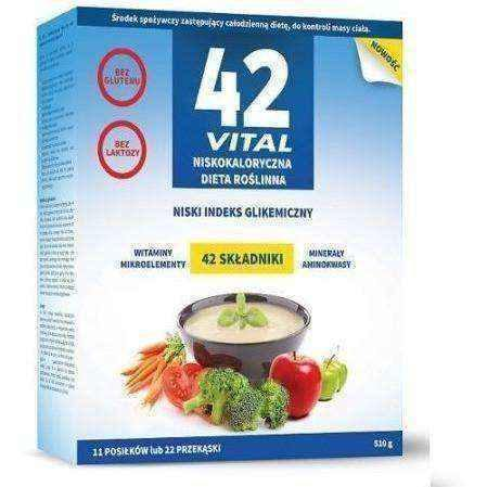 42 VITAL-calorie plant-based diet 510g x 2 packages + Shaker, plant based diet weight loss UK
