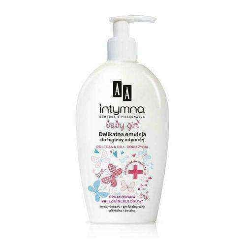 AA Intimate Baby Girl delicate emulsion for intimate hygiene 300ml 1+ clean and dry intimate wash.