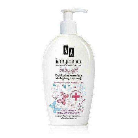 AA Intimate Baby Girl delicate emulsion for intimate hygiene 300ml 1+ clean and dry intimate wash