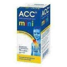 ACC MINI 20mg / ml oral solution 100ml, acetylcysteine, 3 years+ UK