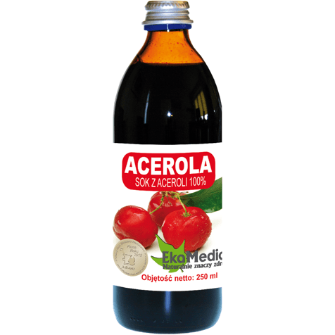 ACEROLA acerola juice 100% 500ml a juice rich in vitamin C - ELIVERA UK, England, Britain, Review, Buy